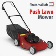 Push Lawn Mower 3d model