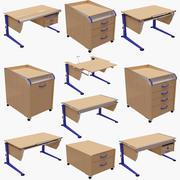 モルの基本的なテーブルサイドとテーブルのセット。 3d model