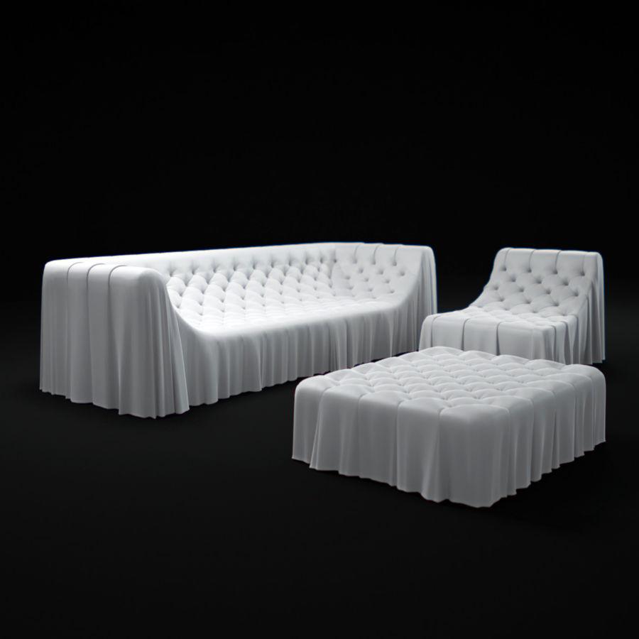 busnelli-bohemien-sofa royalty-free 3d model - Preview no. 1