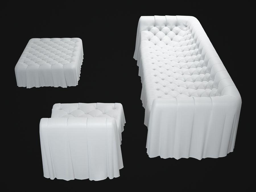 busnelli-bohemien-sofa royalty-free 3d model - Preview no. 5