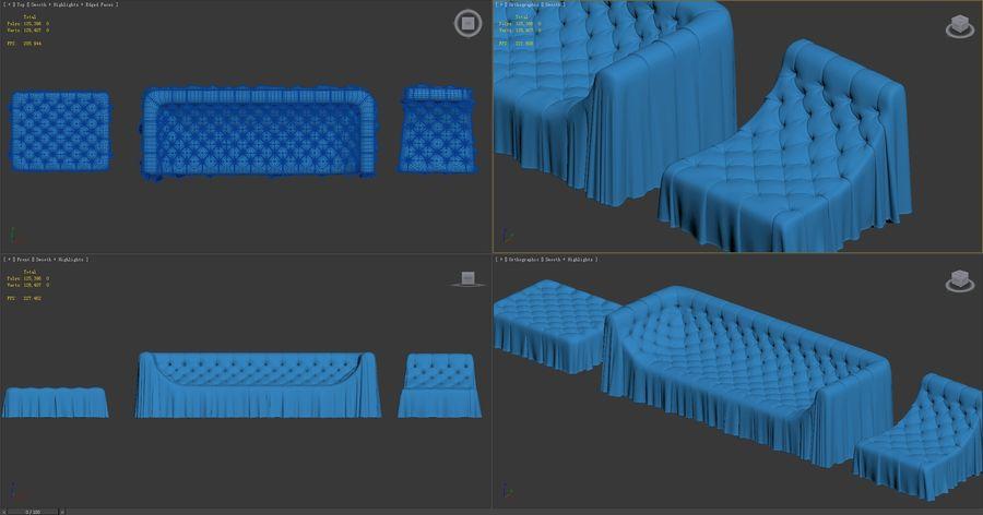 busnelli-bohemien-sofa royalty-free 3d model - Preview no. 9