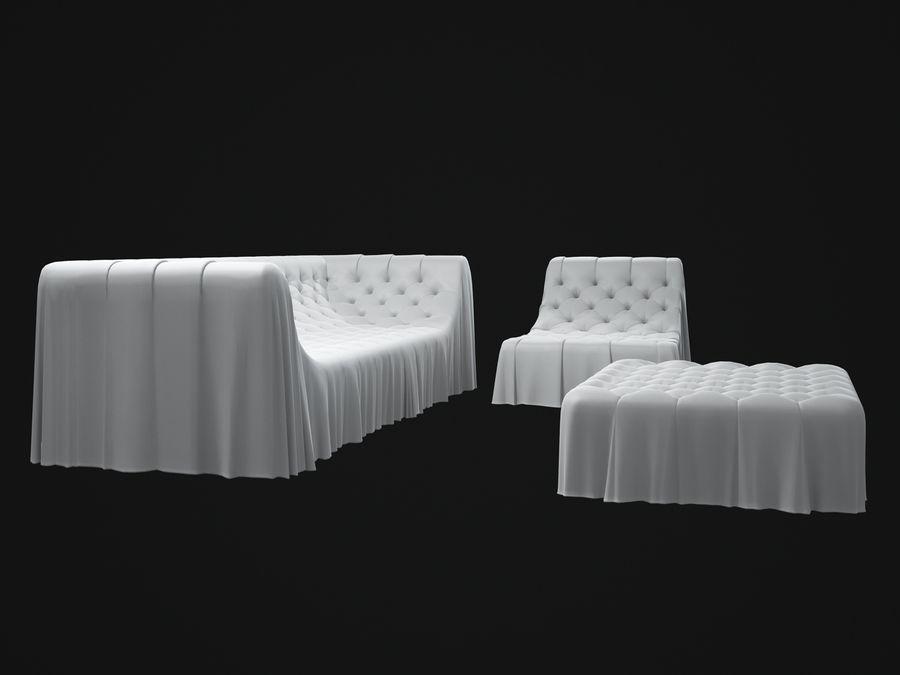 busnelli-bohemien-sofa royalty-free 3d model - Preview no. 8