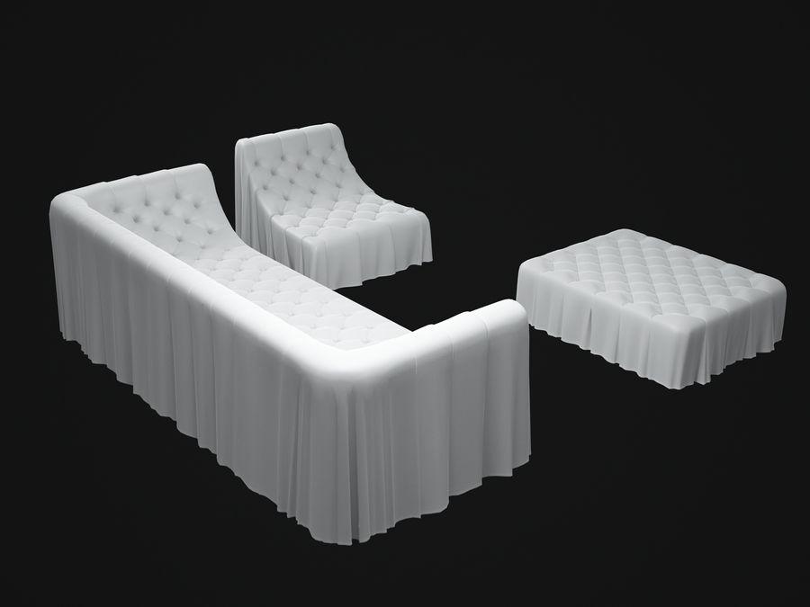 busnelli-bohemien-sofa royalty-free 3d model - Preview no. 4