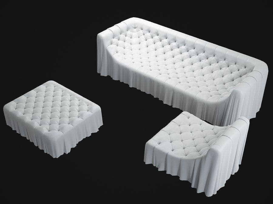 busnelli-bohemien-sofa royalty-free 3d model - Preview no. 7