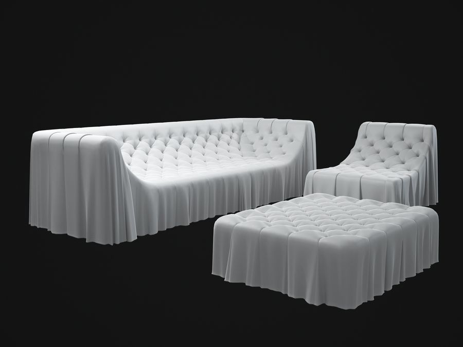 busnelli-bohemien-sofa royalty-free 3d model - Preview no. 2