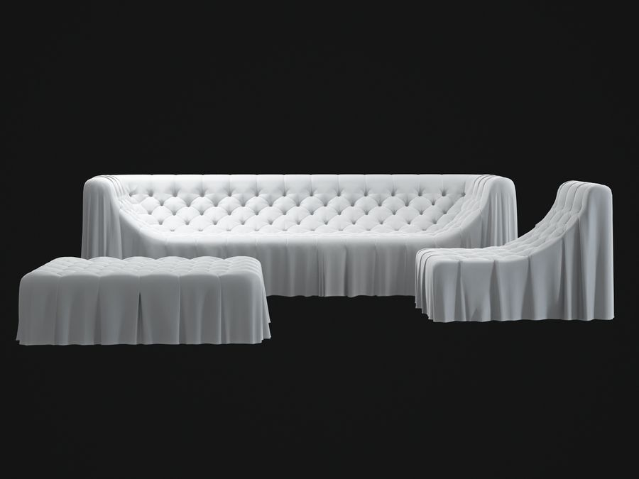 busnelli-bohemien-sofa royalty-free 3d model - Preview no. 6