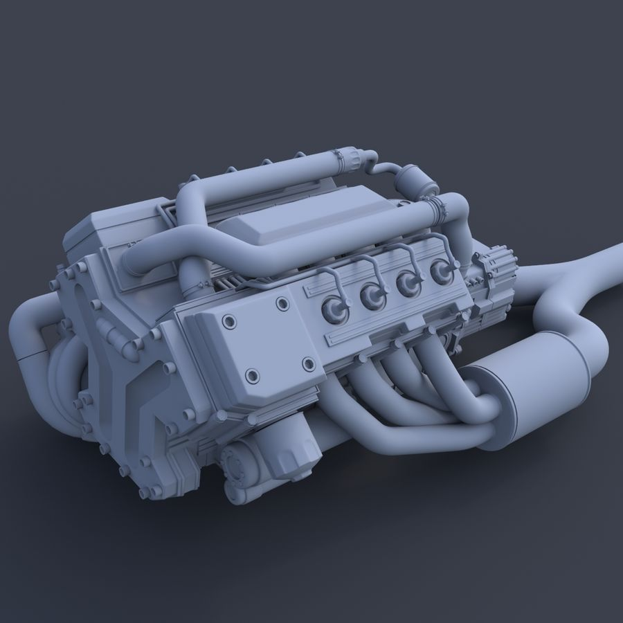 motor do veículo royalty-free 3d model - Preview no. 8