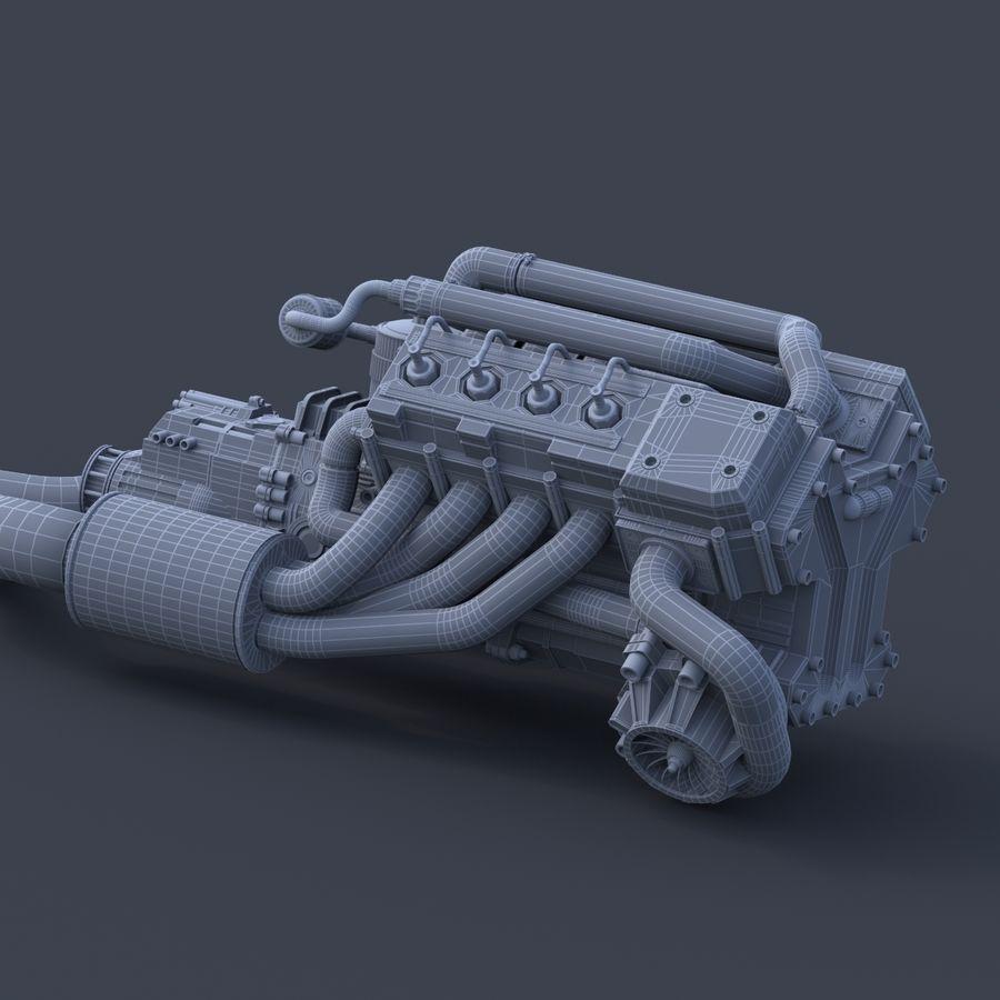 двигатель автомобиля royalty-free 3d model - Preview no. 6