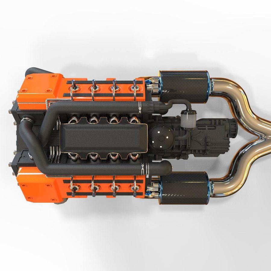 двигатель автомобиля royalty-free 3d model - Preview no. 3