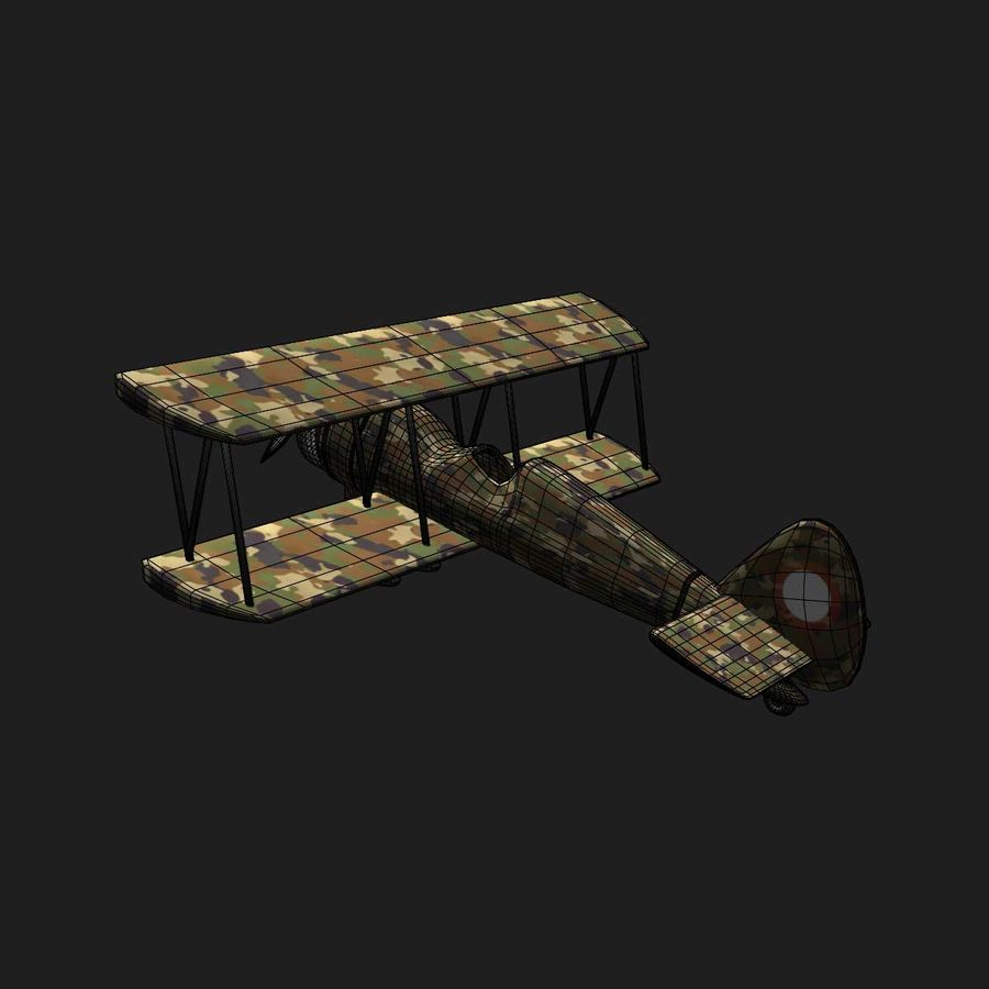 Army Airplane royalty-free 3d model - Preview no. 13