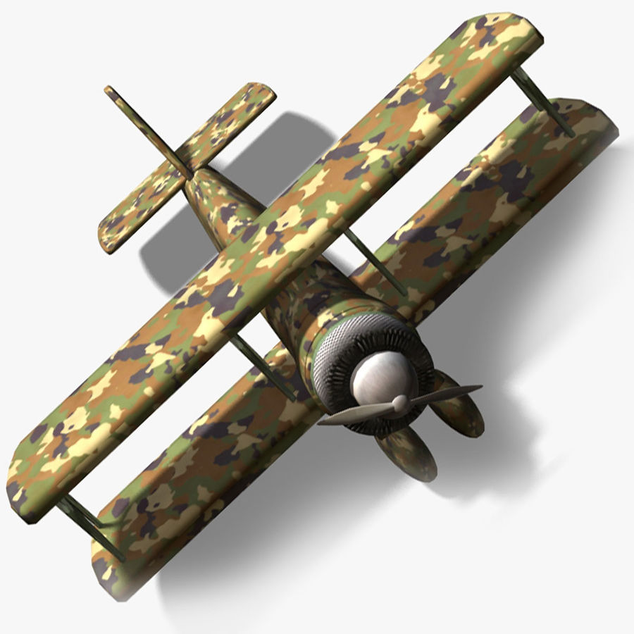 Army Airplane royalty-free 3d model - Preview no. 10