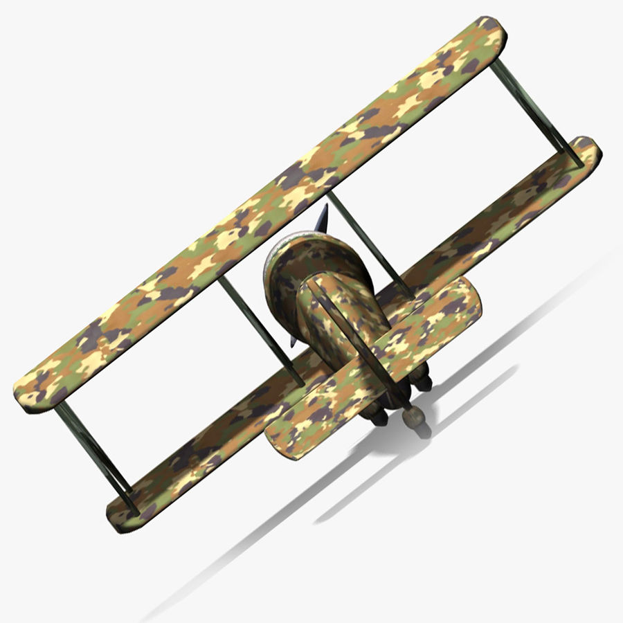 Army Airplane royalty-free 3d model - Preview no. 6