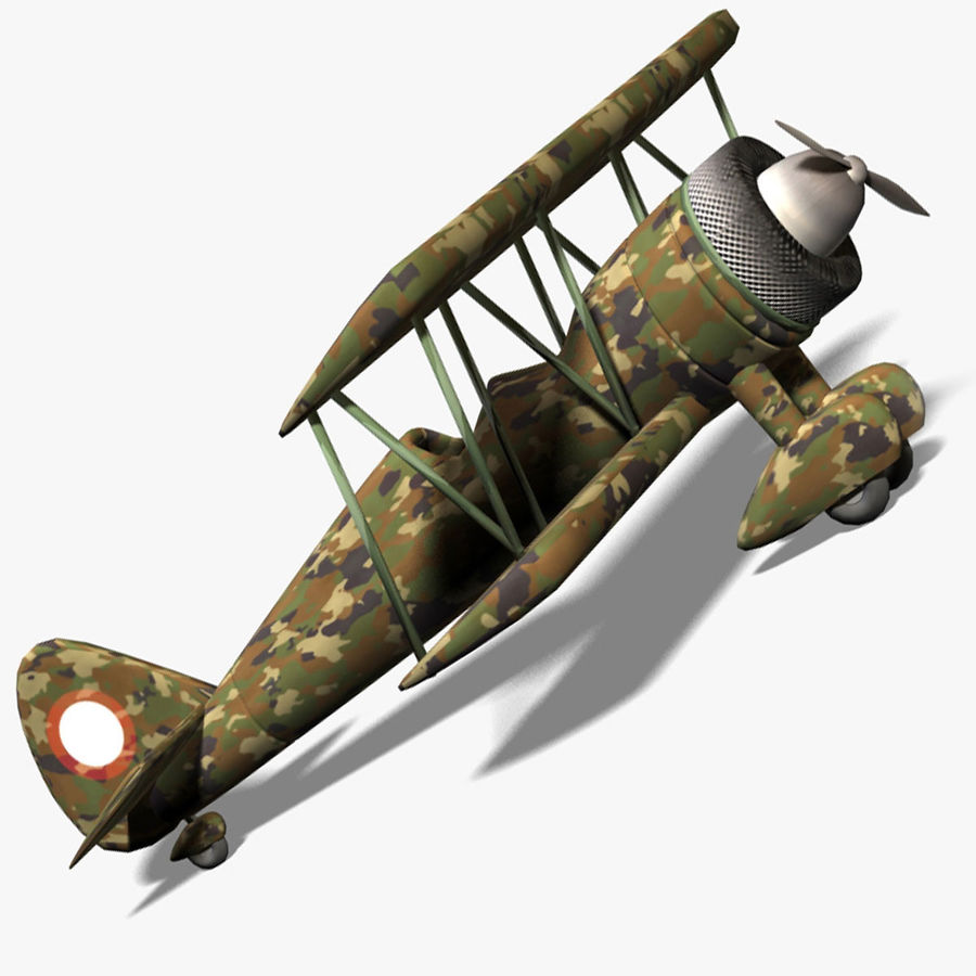 Army Airplane royalty-free 3d model - Preview no. 4