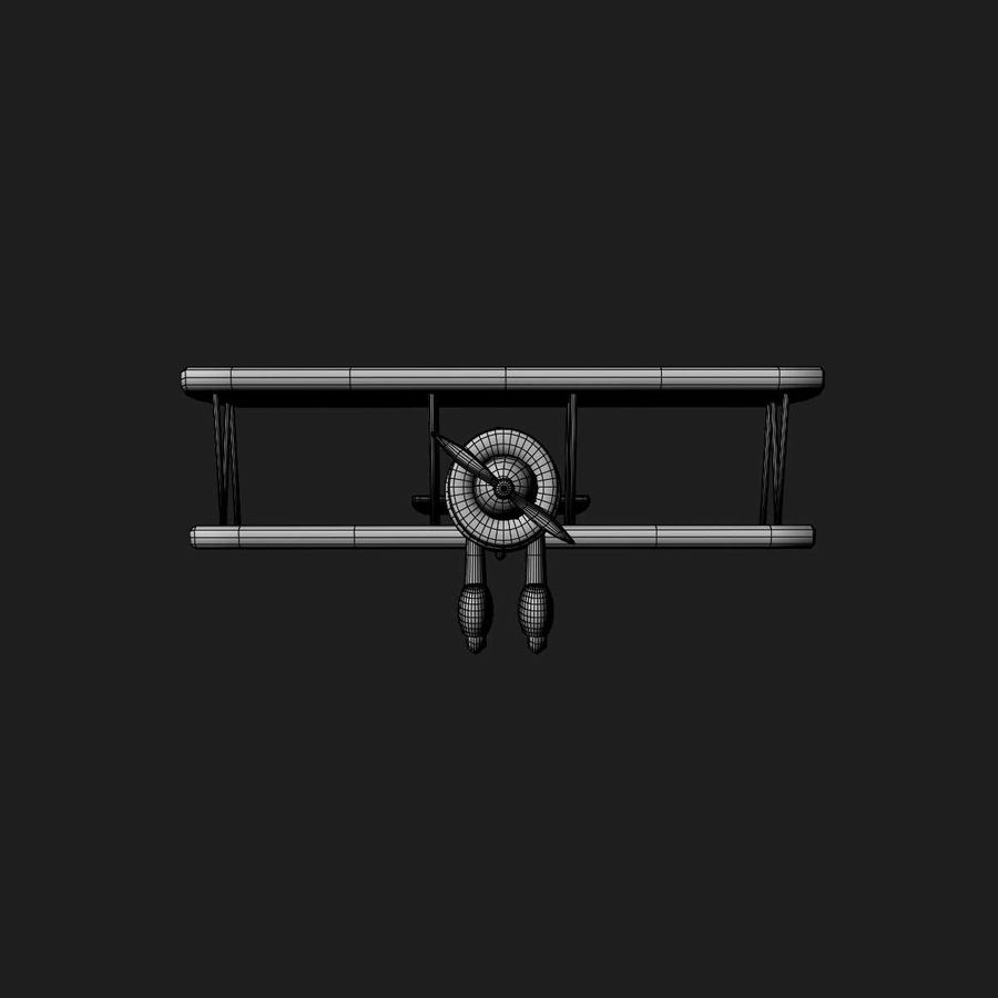 Army Airplane royalty-free 3d model - Preview no. 17