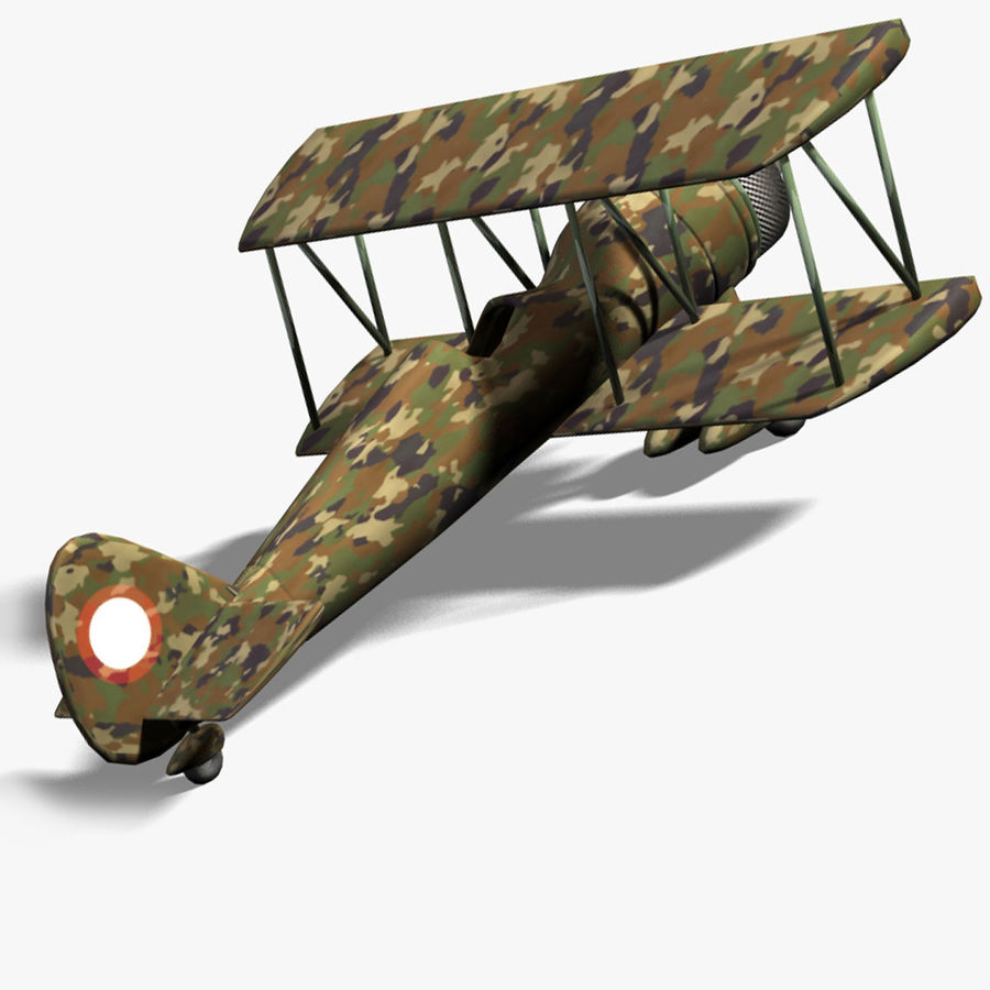 Army Airplane royalty-free 3d model - Preview no. 5