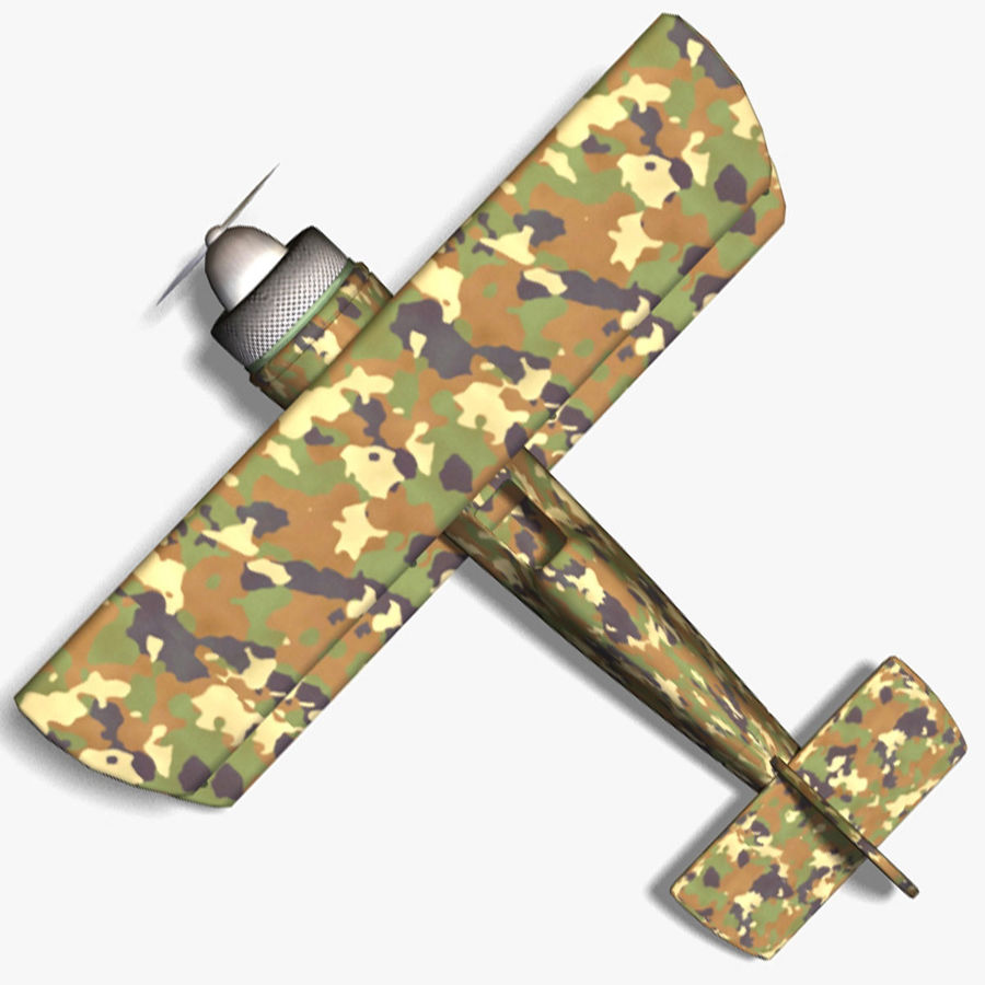 Army Airplane royalty-free 3d model - Preview no. 7