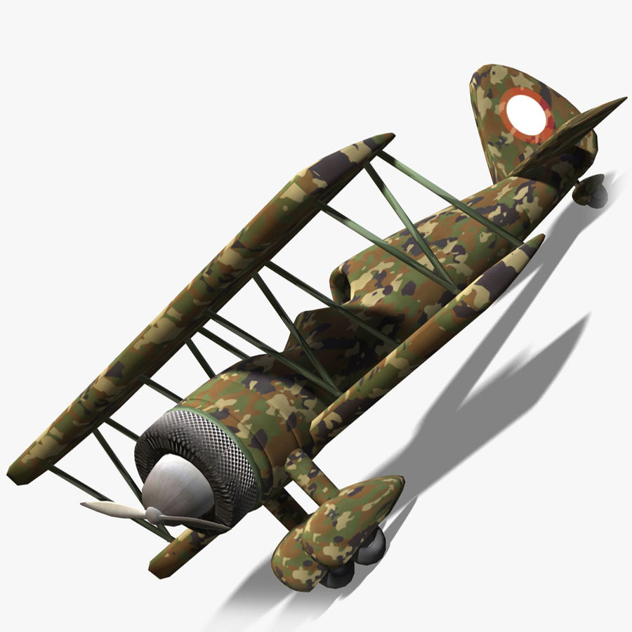 Army Airplane royalty-free 3d model - Preview no. 9
