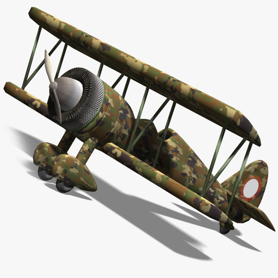 Army Airplane royalty-free 3d model - Preview no. 2