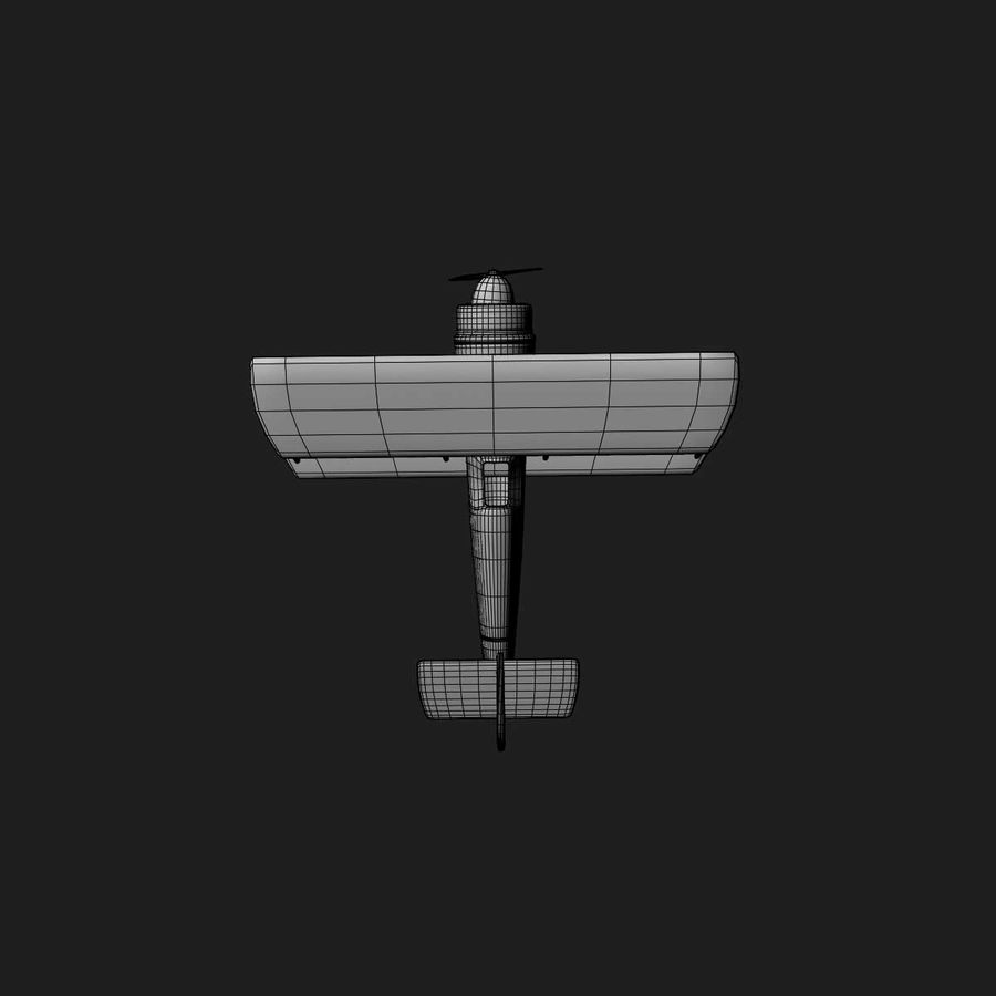 Army Airplane royalty-free 3d model - Preview no. 18