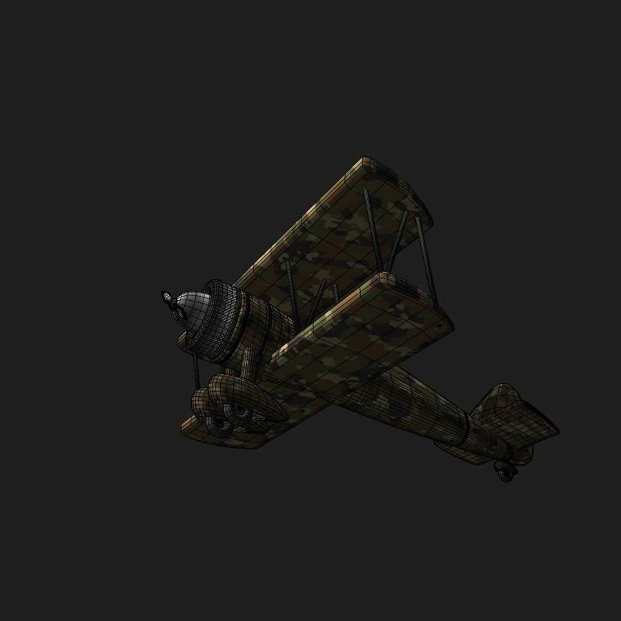 Army Airplane royalty-free 3d model - Preview no. 15