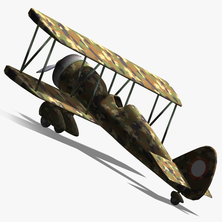 Army Airplane royalty-free 3d model - Preview no. 8