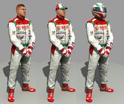 racing driver mechanic 3d model