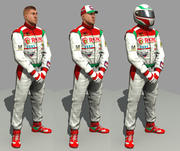 racing driver mechanic 3d model