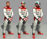 mecânico de motorista de corrida 3d model