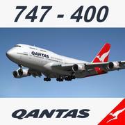 747 Qantas 3d model