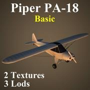 PA18 Basic 3d model