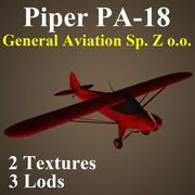 PA18 GNZ 3d model
