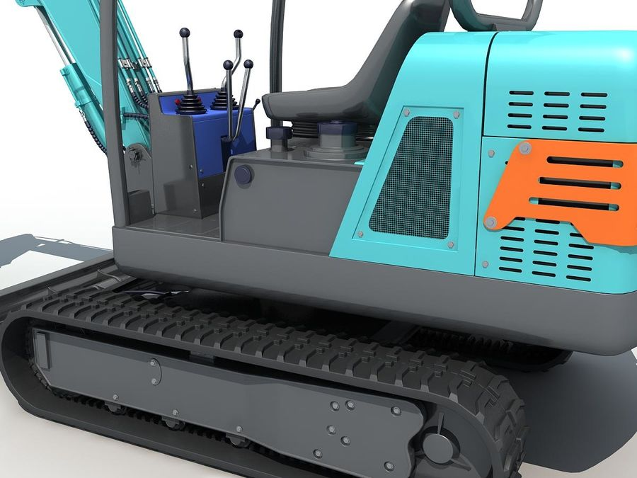 Small Excavator YG22-8 royalty-free 3d model - Preview no. 12