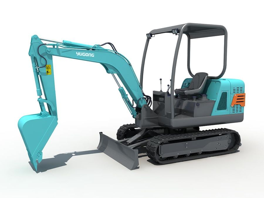 Small Excavator YG22-8 royalty-free 3d model - Preview no. 2