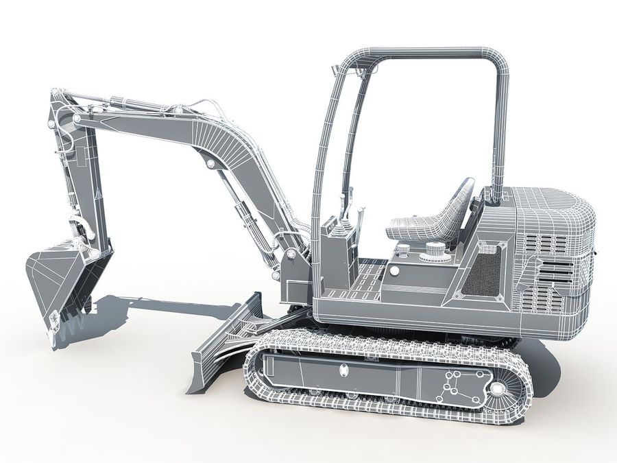 Small Excavator YG22-8 royalty-free 3d model - Preview no. 15