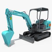 Small Excavator YG22-8 3d model