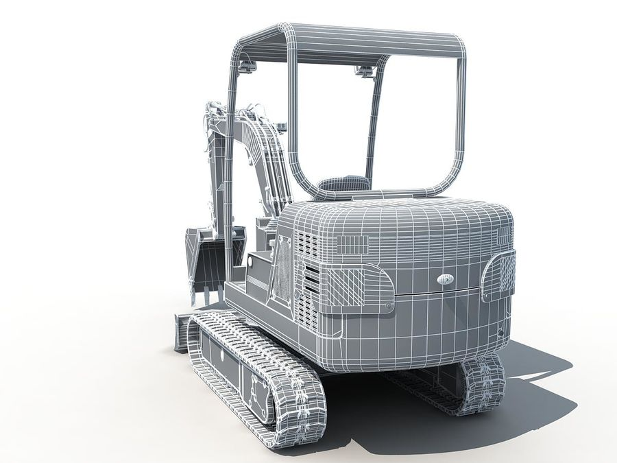 Small Excavator YG22-8 royalty-free 3d model - Preview no. 16