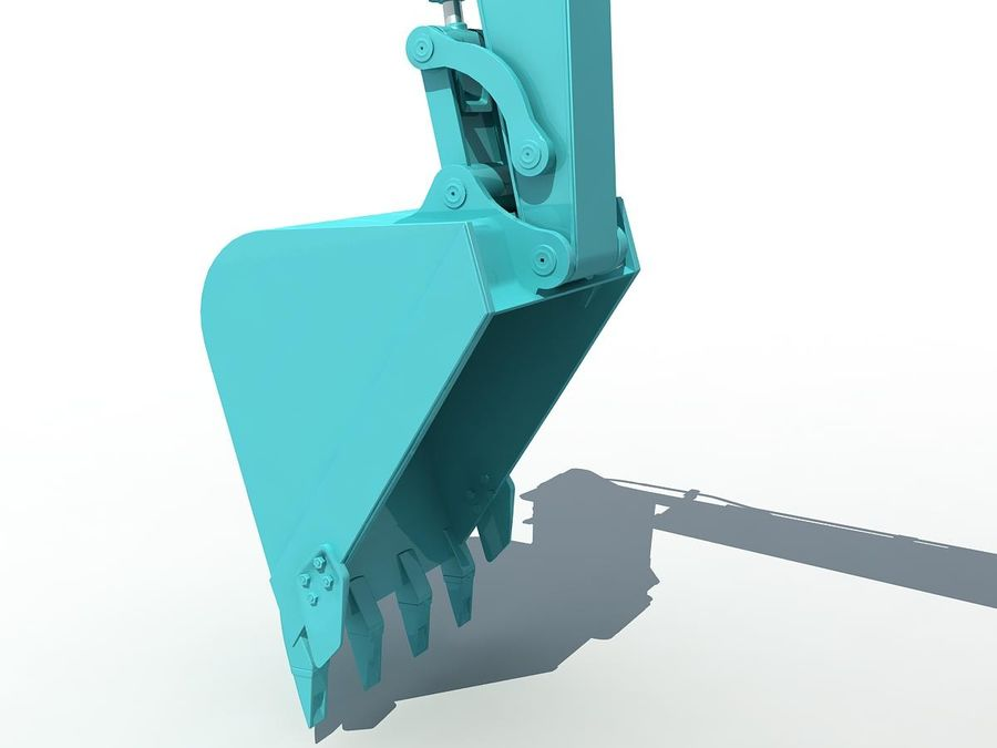 Small Excavator YG22-8 royalty-free 3d model - Preview no. 11