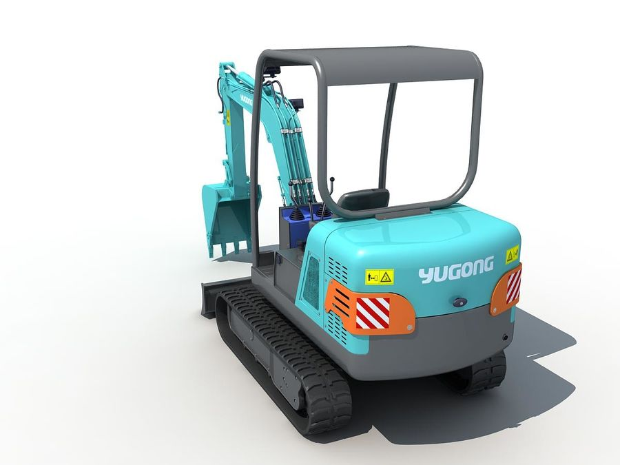 Small Excavator YG22-8 royalty-free 3d model - Preview no. 4