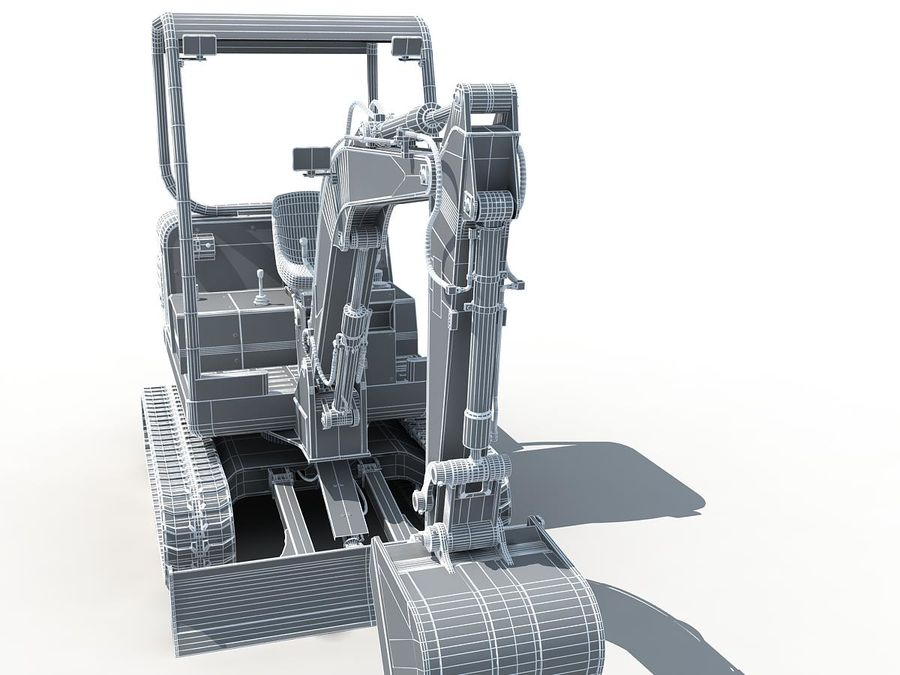 Small Excavator YG22-8 royalty-free 3d model - Preview no. 19