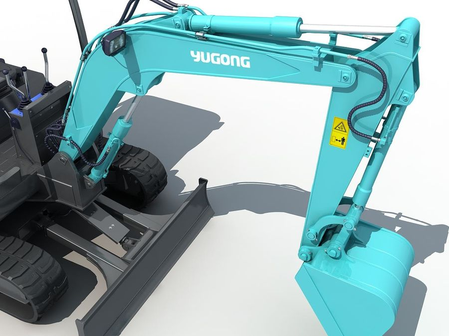 Small Excavator YG22-8 royalty-free 3d model - Preview no. 10