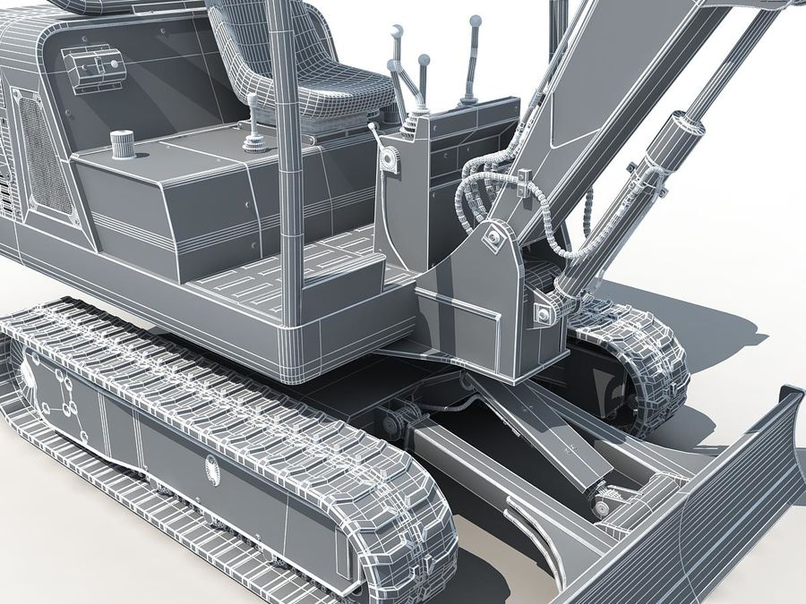 Small Excavator YG22-8 royalty-free 3d model - Preview no. 18
