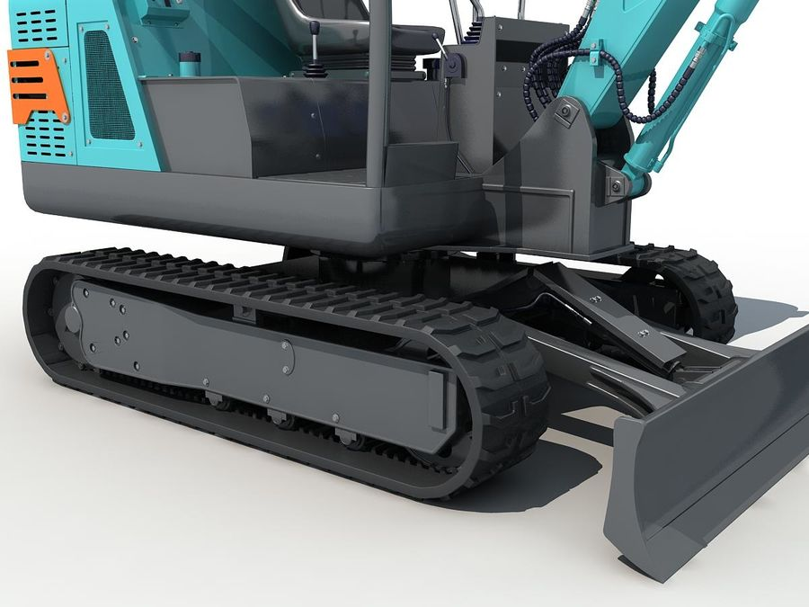 Small Excavator YG22-8 royalty-free 3d model - Preview no. 9
