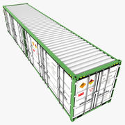 Open side Container 40ft 3d model