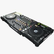DJ Set Pioneer svart 3d model