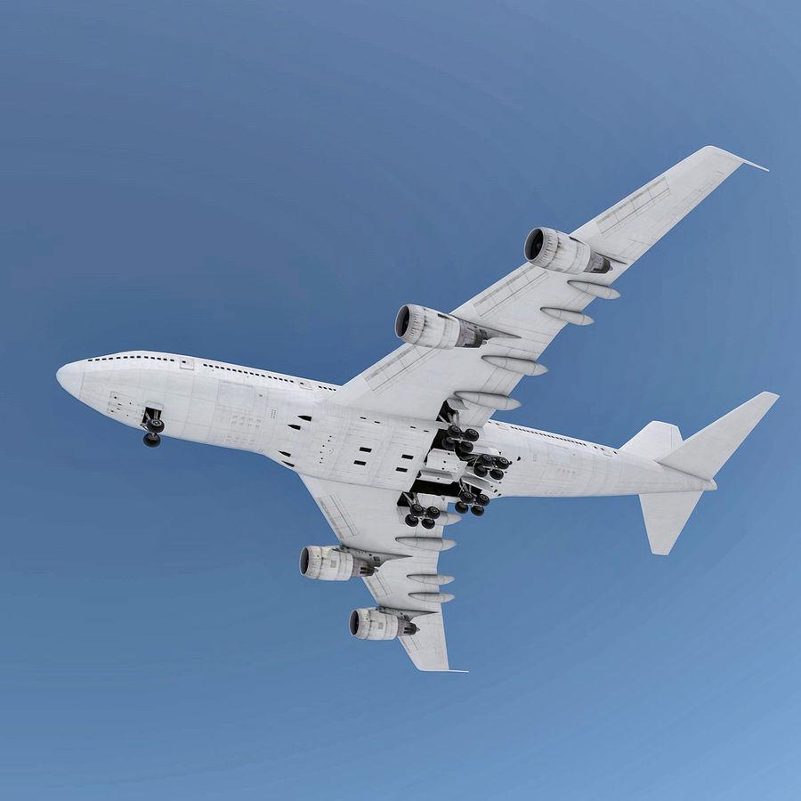波音747-200通用白 royalty-free 3d model - Preview no. 5
