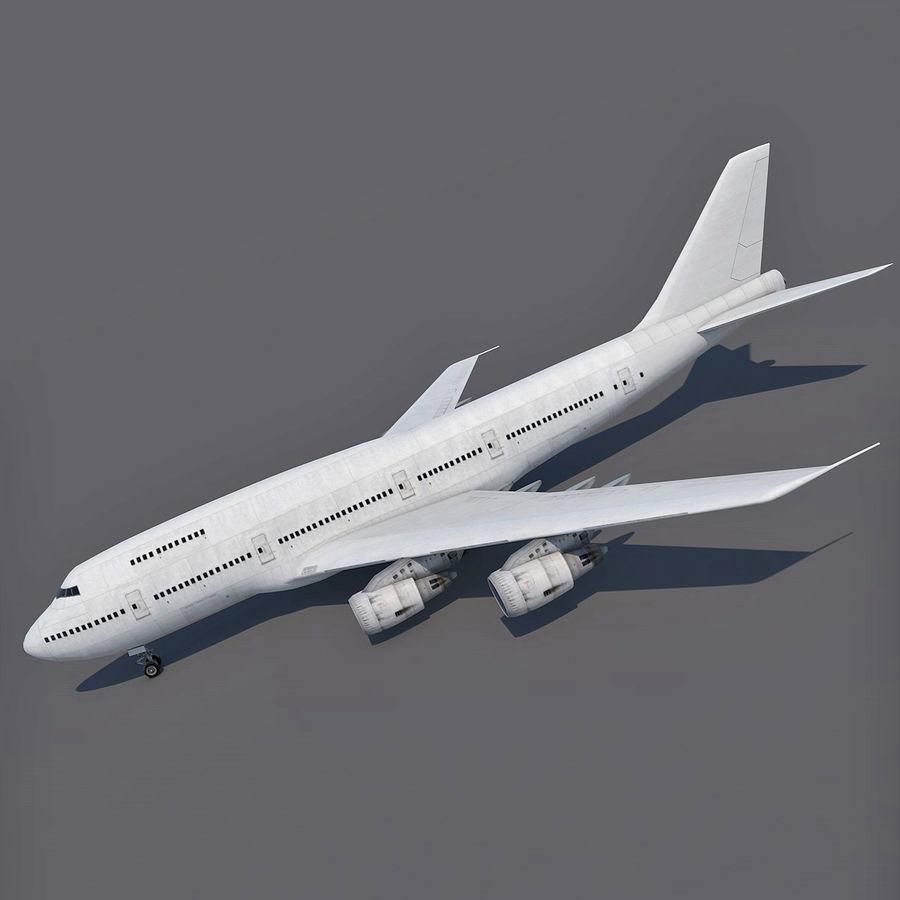 波音747-200通用白 royalty-free 3d model - Preview no. 3