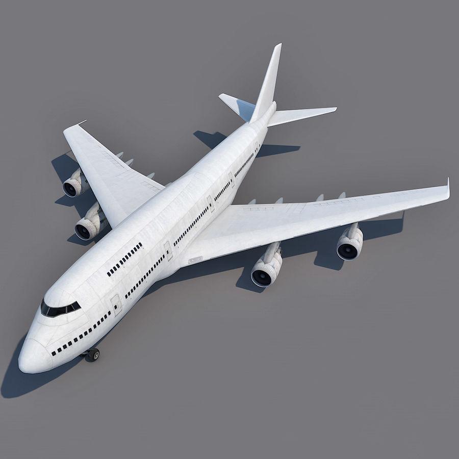 波音747-200通用白 royalty-free 3d model - Preview no. 2
