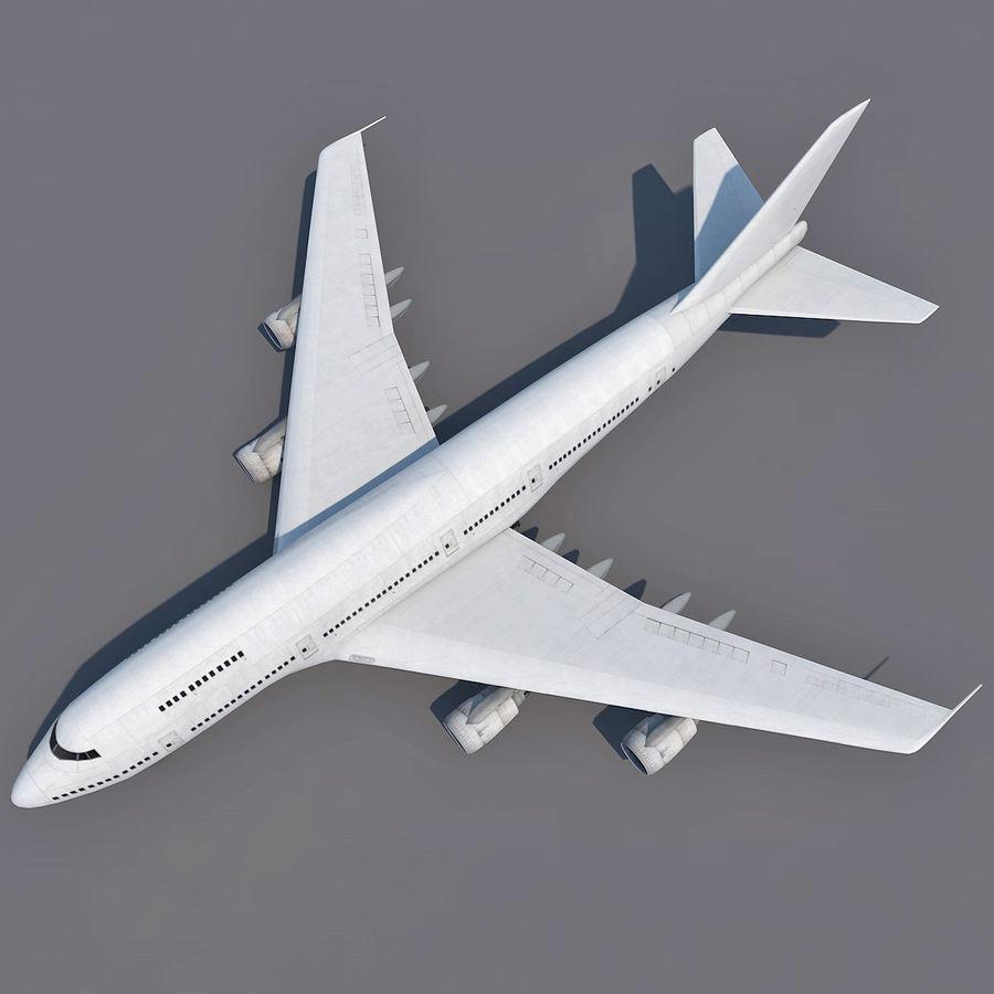 波音747-200通用白 royalty-free 3d model - Preview no. 4