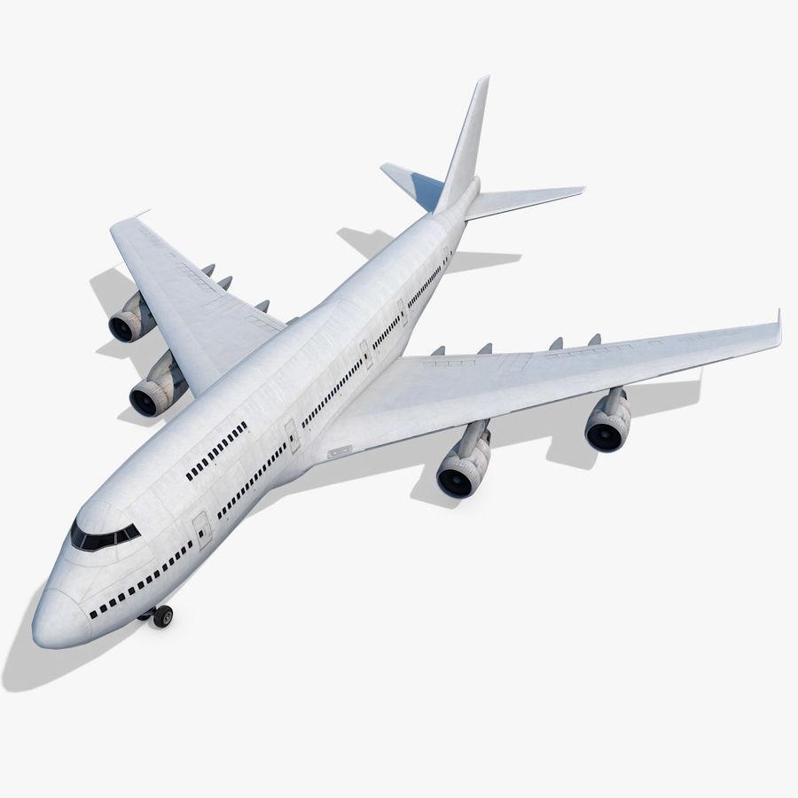 波音747-200通用白 royalty-free 3d model - Preview no. 1