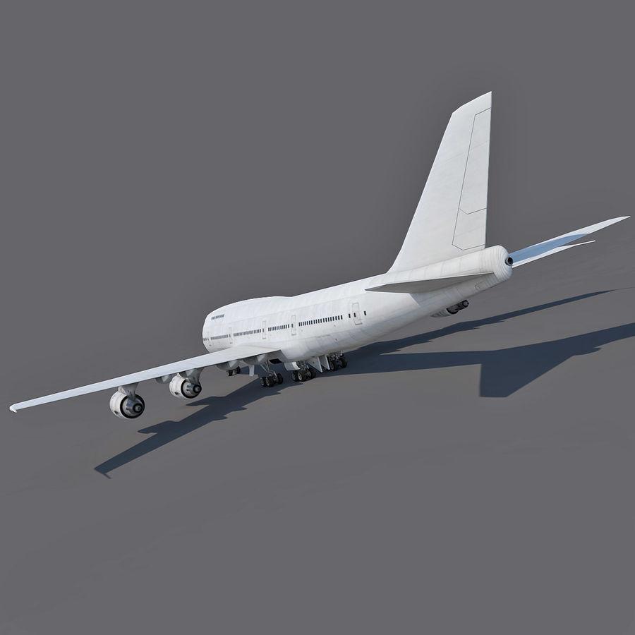 波音747-200通用白 royalty-free 3d model - Preview no. 6